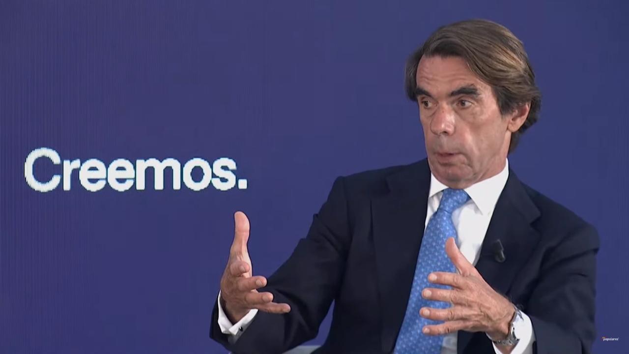 Aznar critica solicitud de perdón de AMLO a España e ironiza sobre su nombre