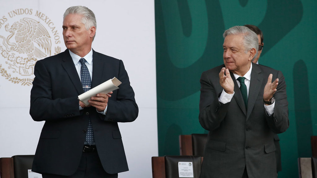 Miguel Díaz-Canel Andrés Manuel López Obrador