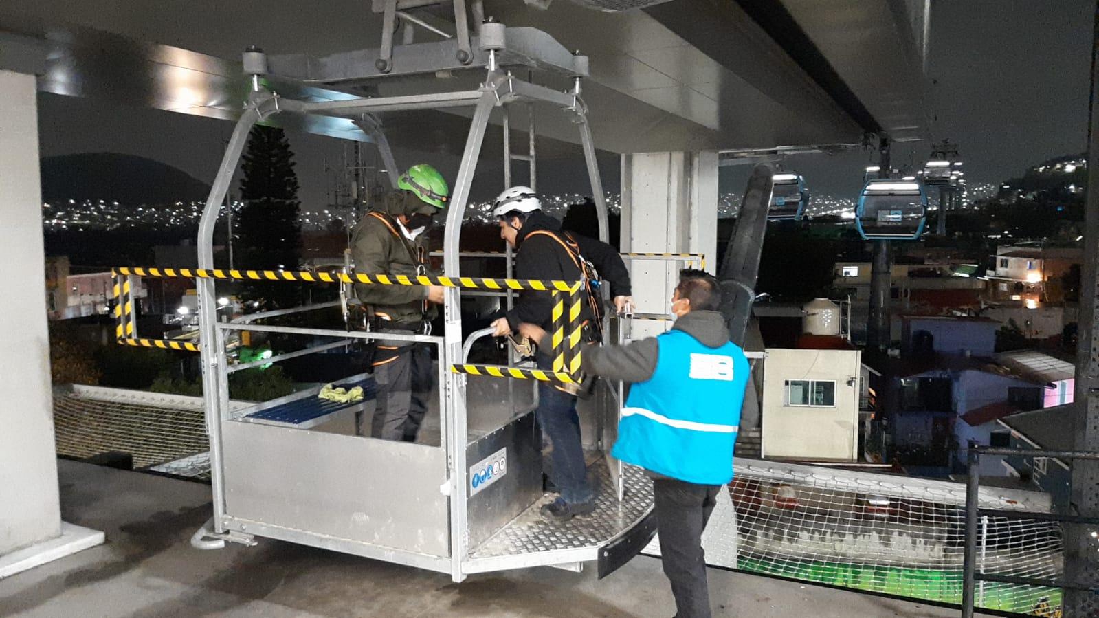 Cablebús, sin daños en sus 2 líneas tras el sismo; CFE restablece luz a 98%