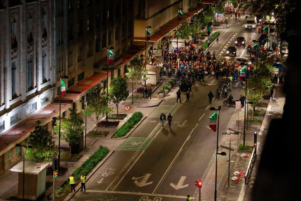 calles cerradas al Zócalo