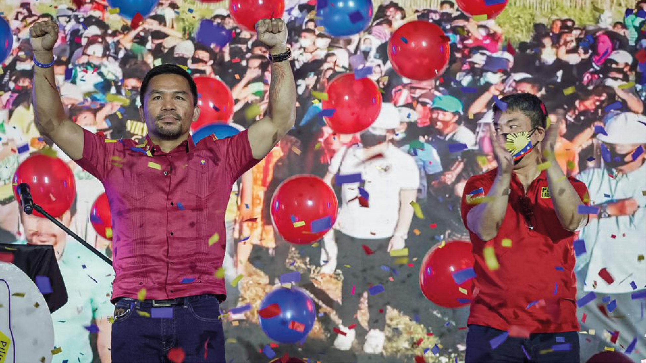 Manny Pacquiao hace oficial su candidatura presidencial en Filipinas