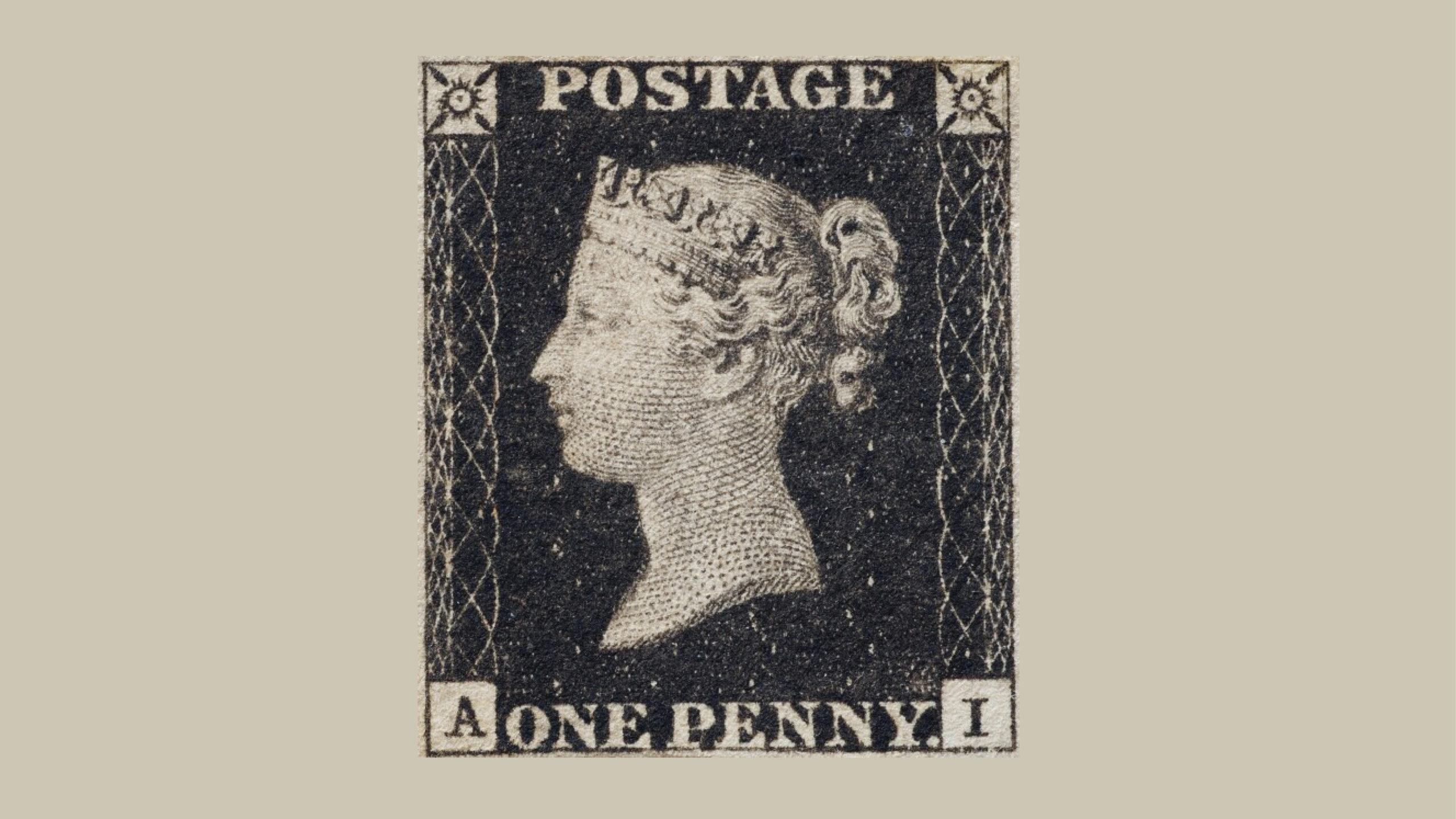 Subastarán el primer sello postal del mundo en 8 mdd