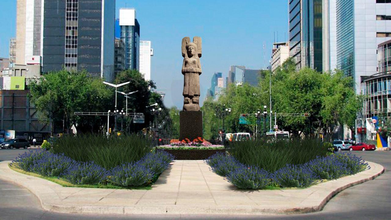 'La joven de Amajac', la estatua que sustituirá a Colón en Reforma