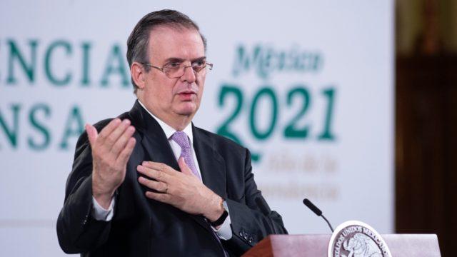 El secretario de Relaciones Exteriores, Marcelo Ebrard. Foto: Presidencia