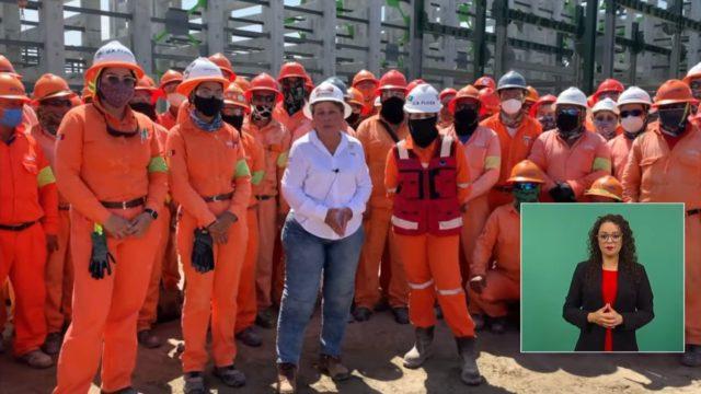 Vamos a terminar Dos Bocas con apoyo de los trabajadores: Nahle