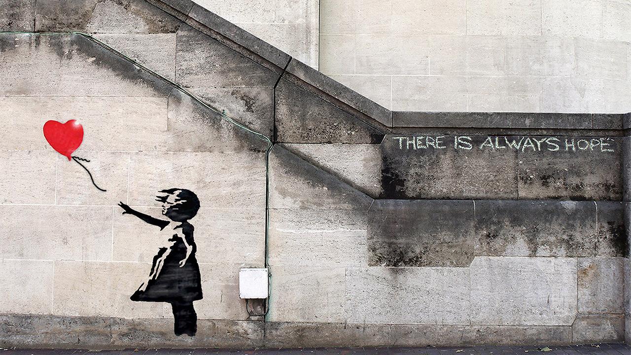 El díptico 'Girl With Balloon' de Banksy se subastará por primera vez