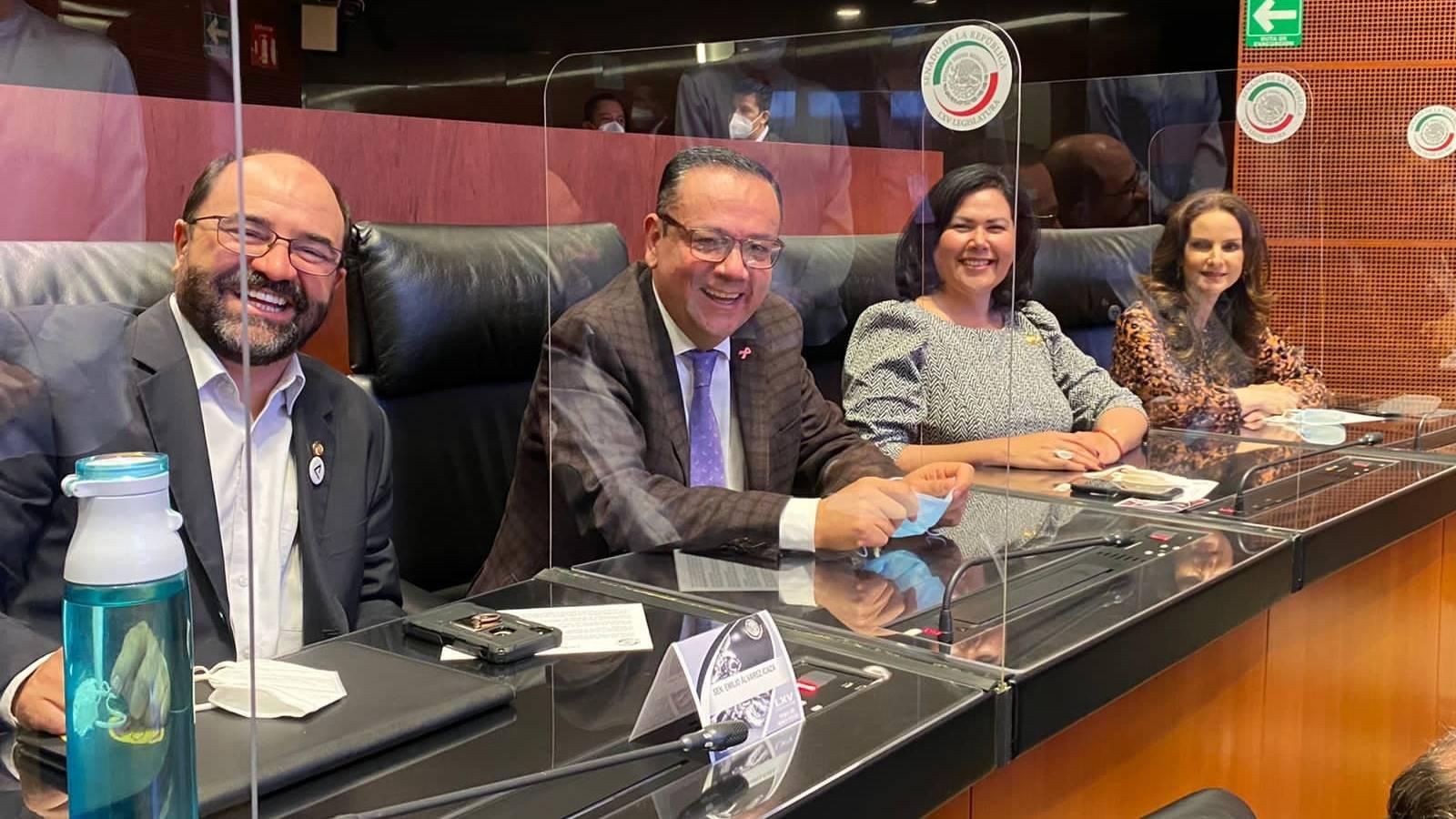Senadores del Grupo Plural se reúnen con titular de Segob