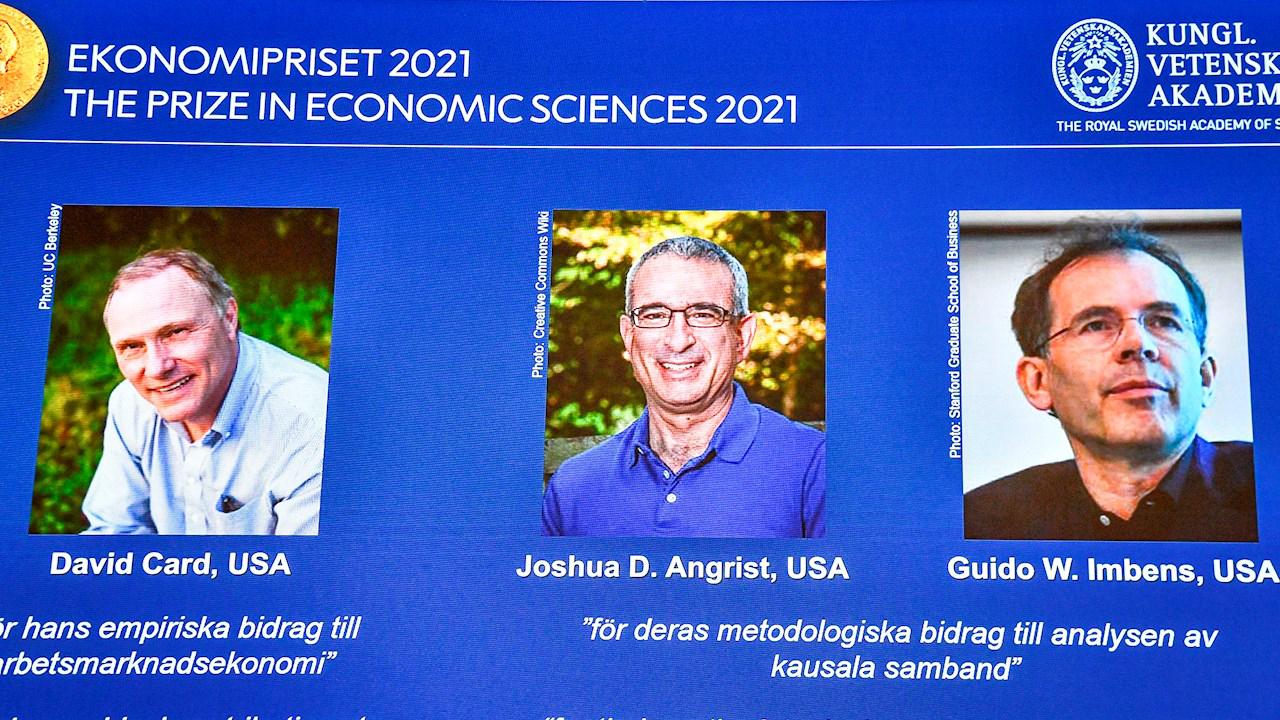 Pioneros en experimentos naturales ganan el premio Nobel de Economía 2021