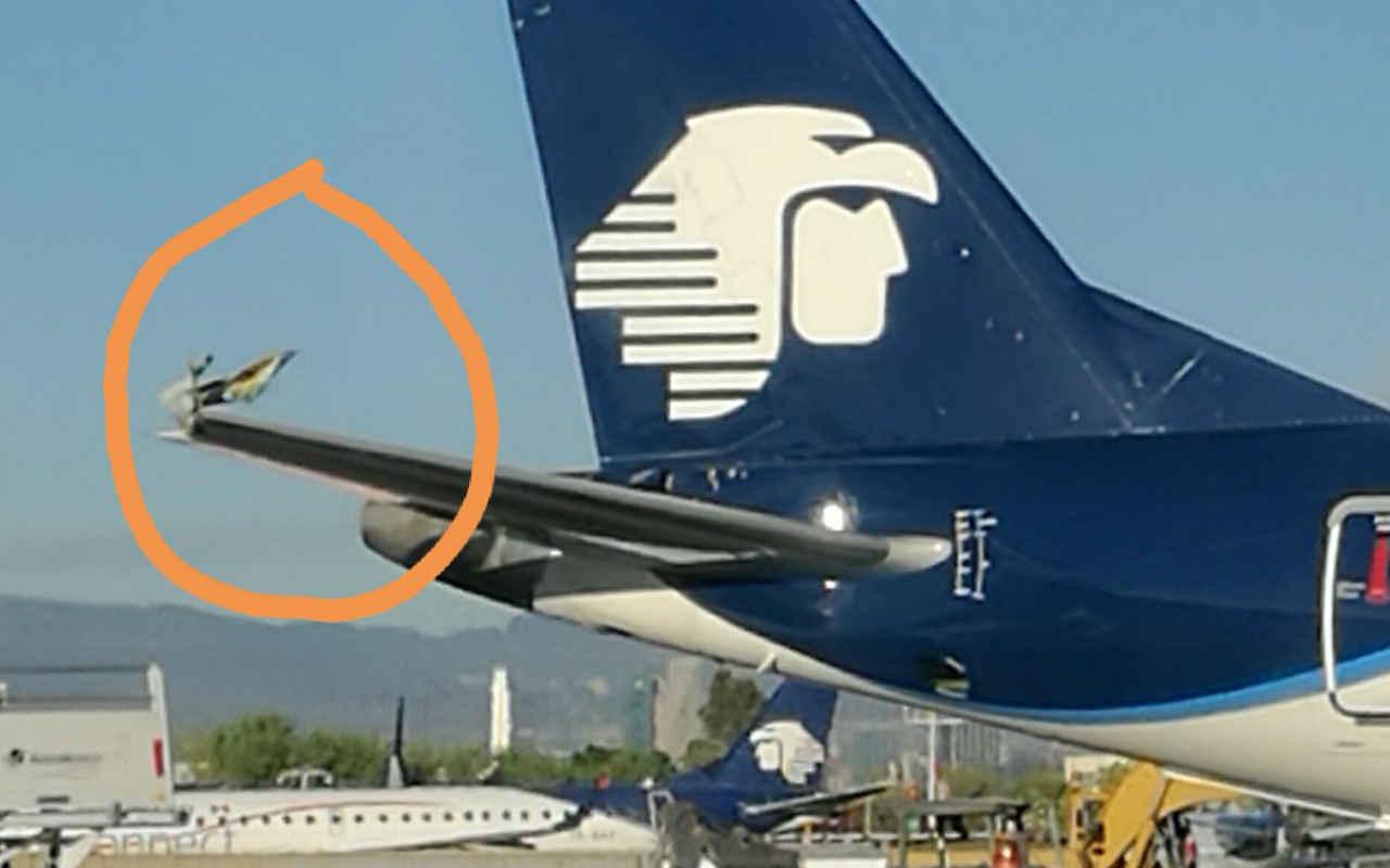 Aeroméxico cancela vuelos por roce entre dos aviones en el AICM