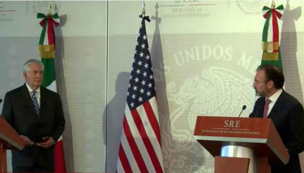 EN VIVO Videgaray y Tillerson dan mensaje a medios tras reunión